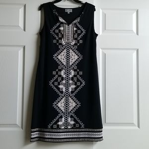 NWOT Sleeveless Geometric Print Dress